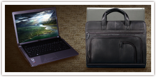 Leather Laptop Briefcases for Dell Studio 17