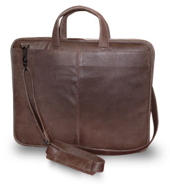 Leather Laptop Briefcases for Dell Computer - Naples